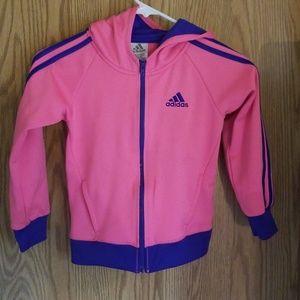 Girls pink and purple Adidas track jacket